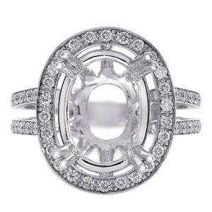 0.80 Carat Diamond Split Shank Engagement Mounting